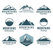 Vector mountains icons