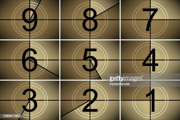 vector movie countdown illustration - countdown stock illustrations
