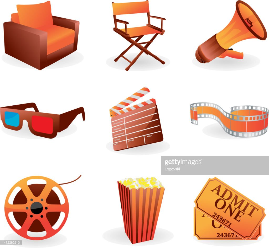 Vector movie icons