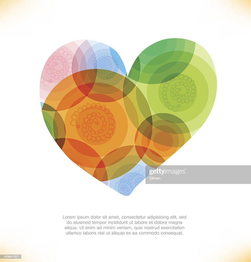 Vector multicolor heart