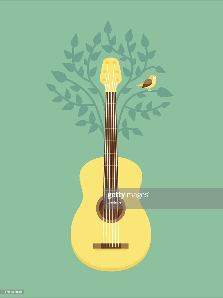 Vector music poster in flat retro style