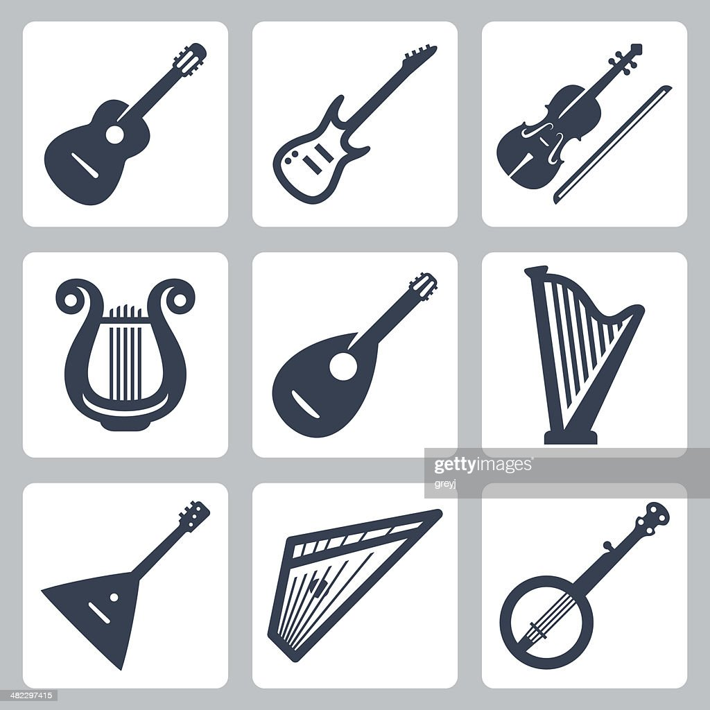 Vector musical instruments: strings
