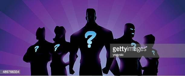 vector mysterious superheroes - looking at camera stock illustrations, clip art, cartoons, & icons