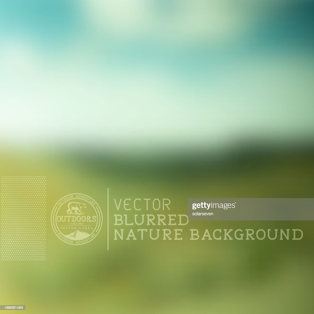 Vector Nature Blurry Background