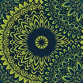 Vector nature seamless pattern with abstract ornament.