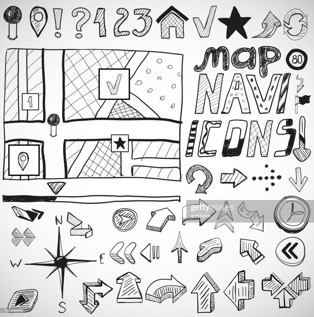 Vector navigation doodles