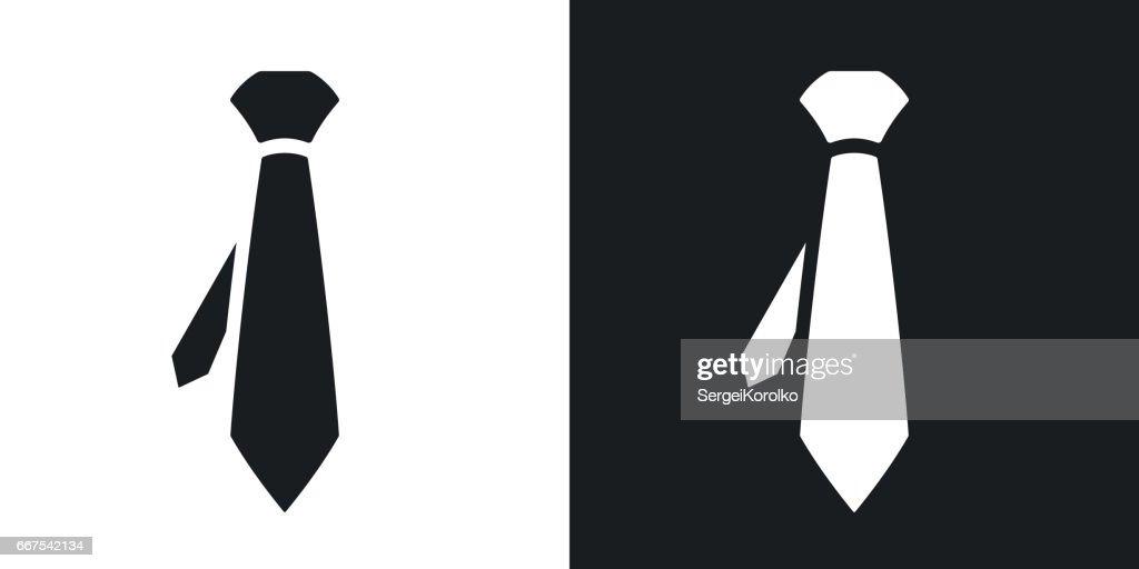 Vector necktie icon. Two-tone version