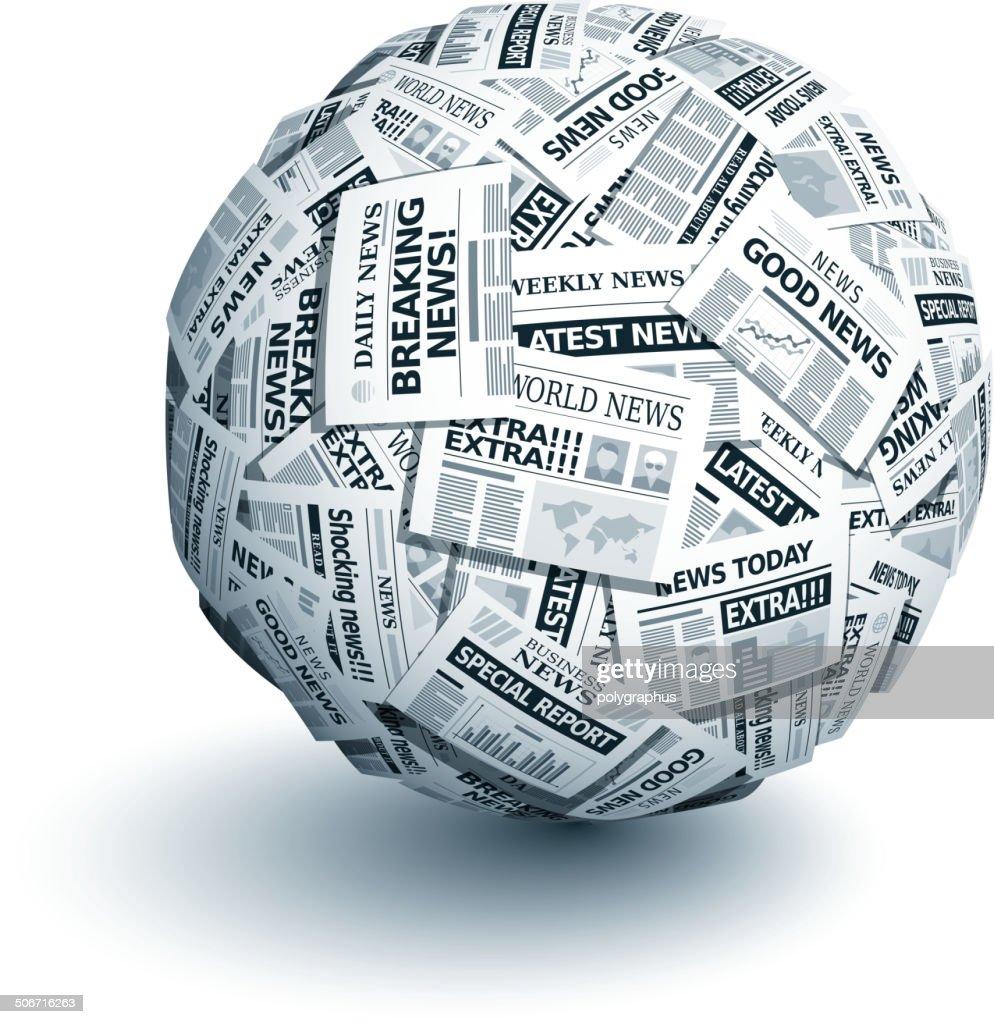 Vector newspaper ball