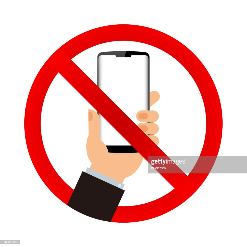 Vektor-keine Handy-Zeichen isoliert auf weißem Hintergrund : Stock-Illustration