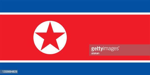 vector north korean flag design - north stock illustrations