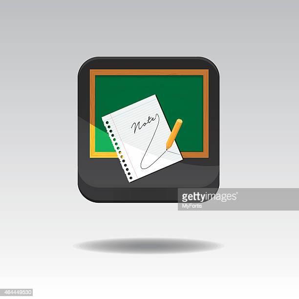 Vector Notepad 3D Button