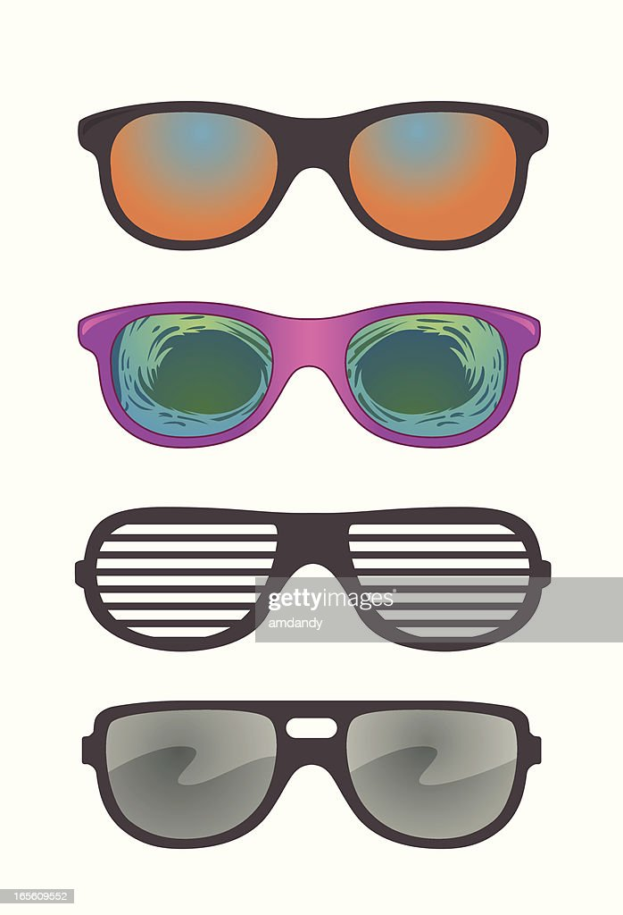 Vector Novelty Sunglasses Assortment : stock illustration