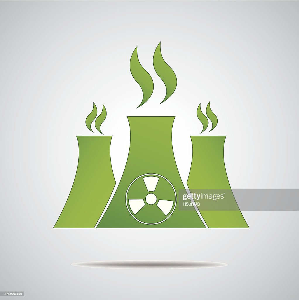 Vector nuclear sign or icon Green