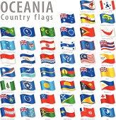 Vector Oceanian National Flag Set