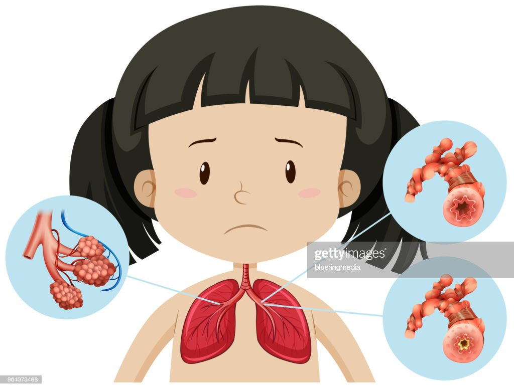 A Vector of A Girl and Body part