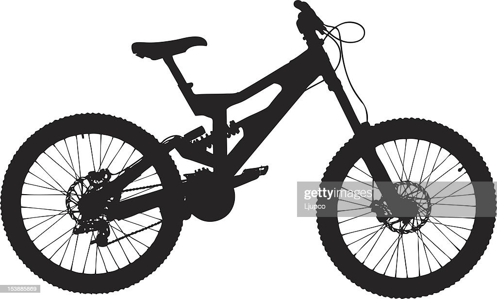Vector of a mountain bike
