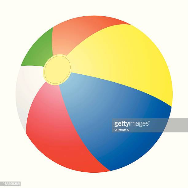 Vector of a multicolor beach ball