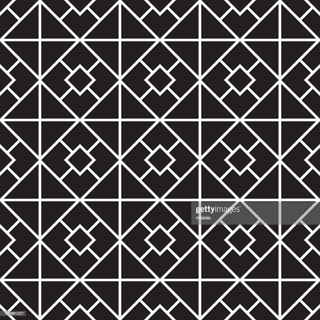 Vector of a pattern with white squares on black background