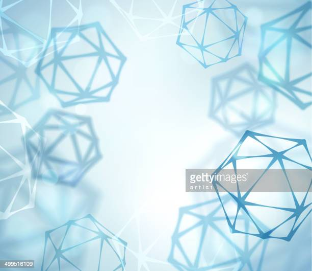 Vector of abstract science geometric shapes
