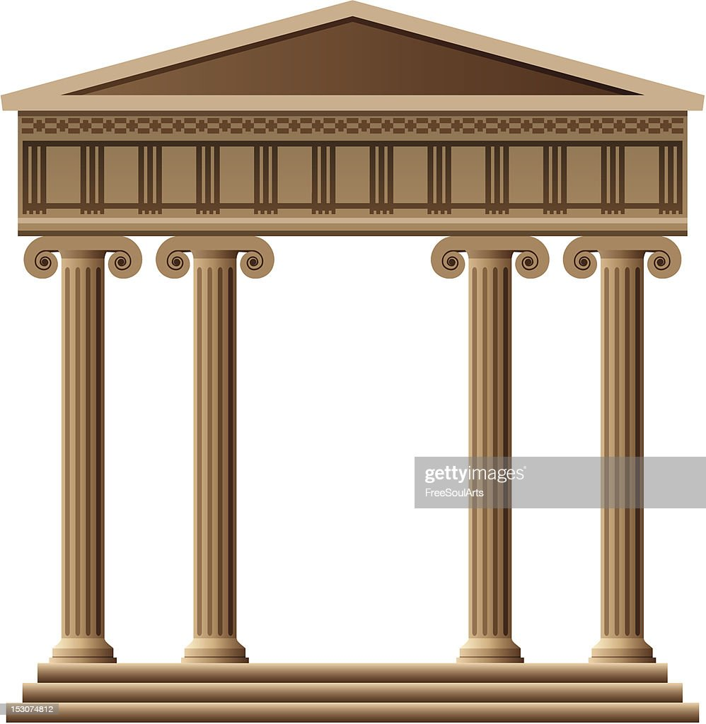 A vector of accent Greek architecture with columns
