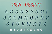 Vector of Alphabet New Design. New design font and alphabet. Vector illustration