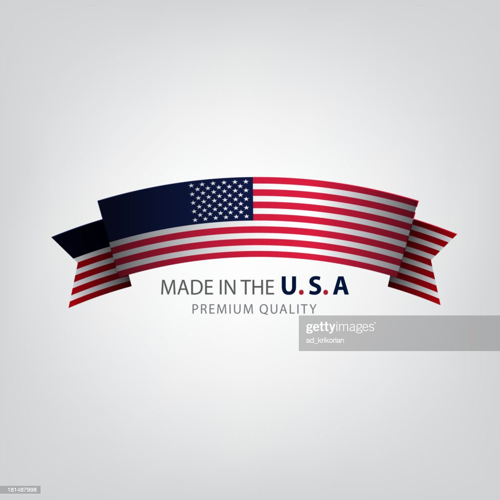 Vector of American flag logo on white background