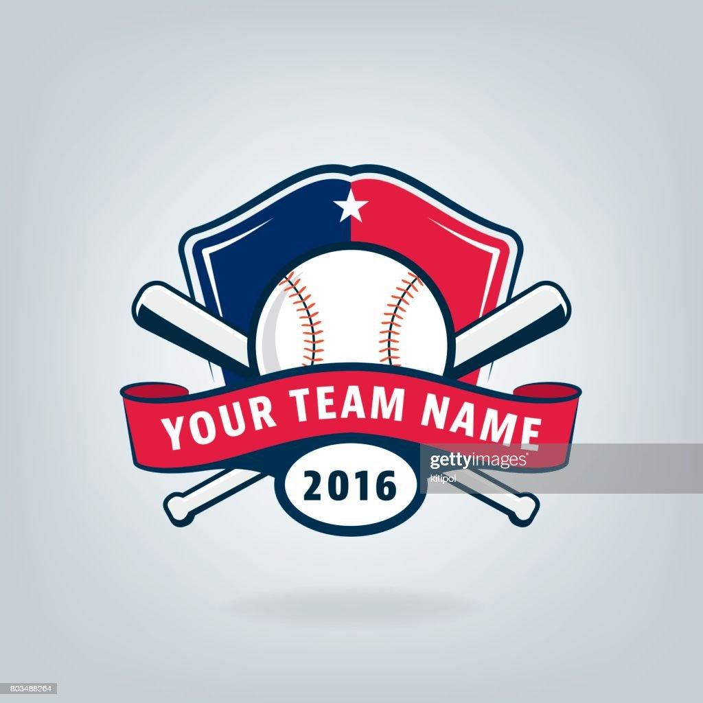 Vector of Baseball sport team  design