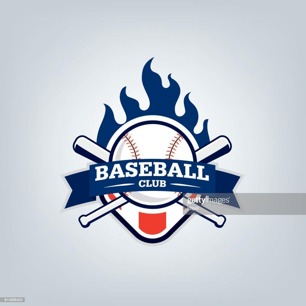 Vector of Baseball sport team logo design