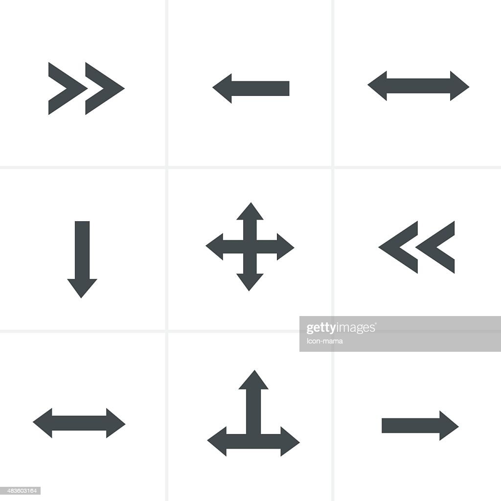 Vector of black arrow icons