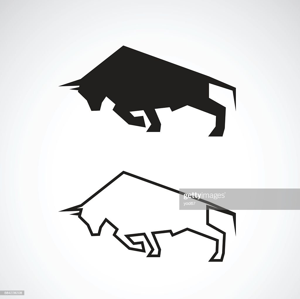 Vector of bull design.