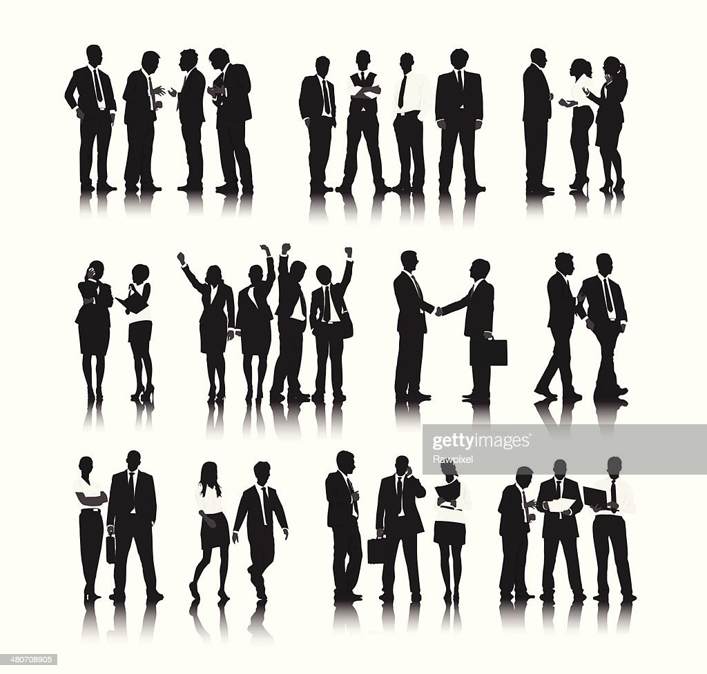 Vector of  Business People in Different Situations