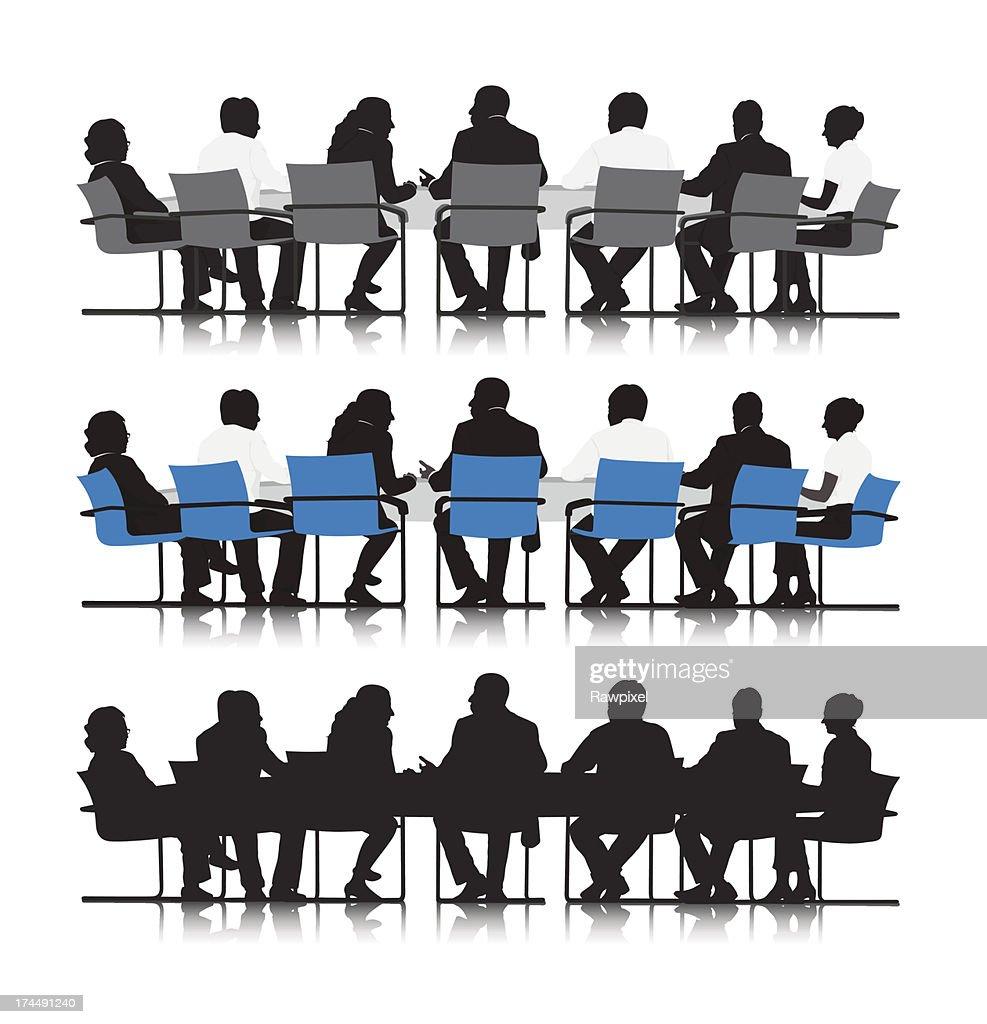 Vector of Business people meeting in board