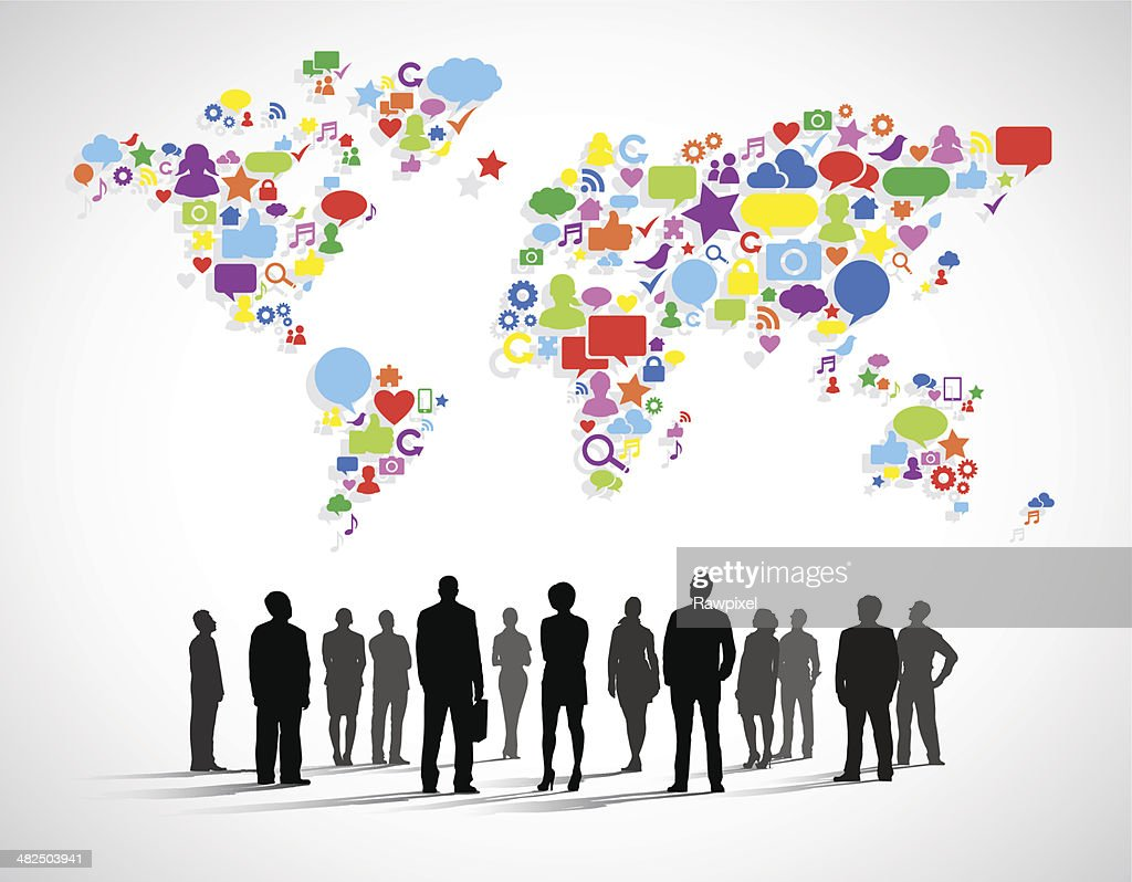 Vector of Business Social Networking