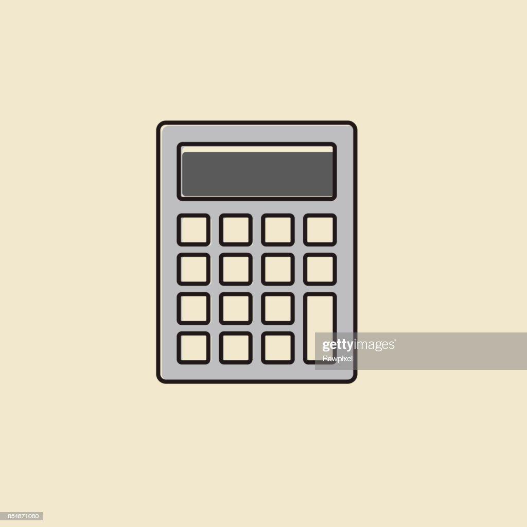 Vector of calculator icon