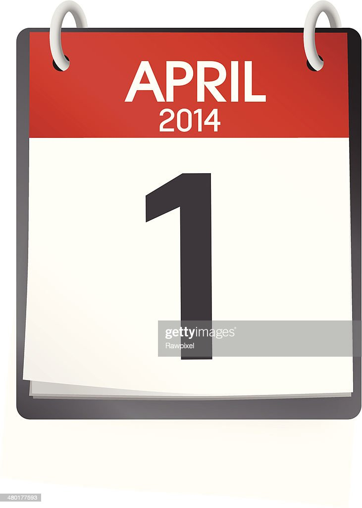 Vector Of Calendar April 1st 2014
