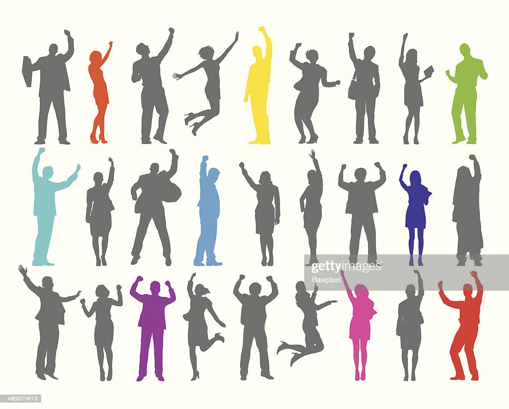 Vector of Celebrating Business People