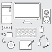 vector of computer accessories concept, icon