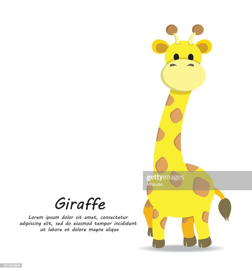 Vector of Cute Giraffe
