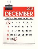 Vector of December Calendar