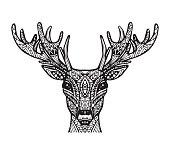 Vector of deer or reindeer