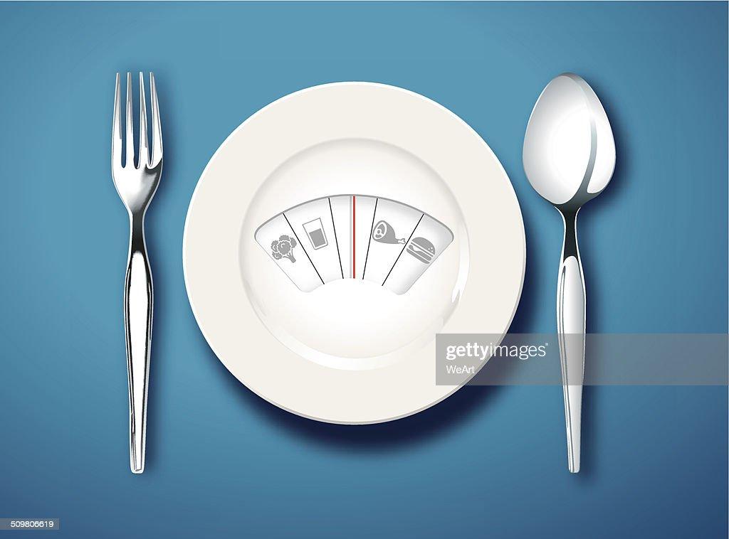 Vector of Diet Menu