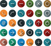 Vector of direction arrow icons