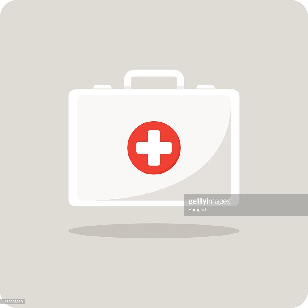 Vector of first aid kit icon