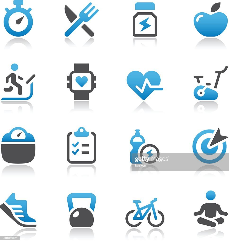Vector of fitness and health icons : stock illustration