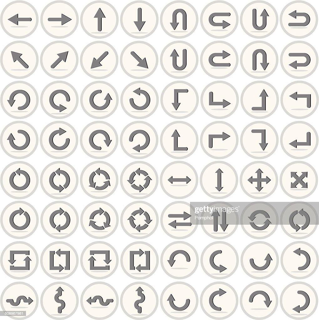 Vector of flat icon, arrow set