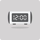 Vector of flat icon, digital alarm clock