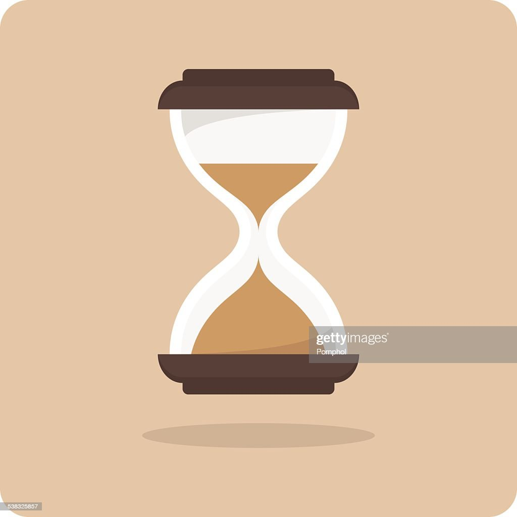 Vector of flat icon, hourglass