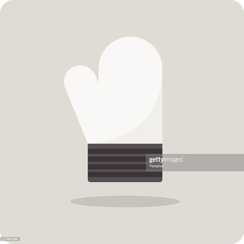 Vector of flat icon, kitchen gloves