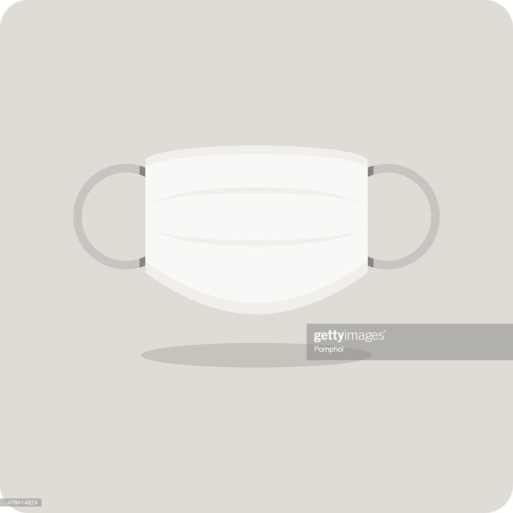 Vector of flat icon, medical mask