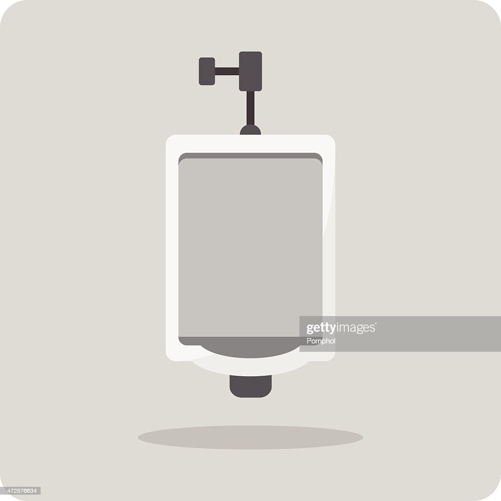 Vector of flat icon, urinal